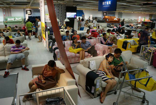 IKEA Sofas Among Top Places For Cool Down