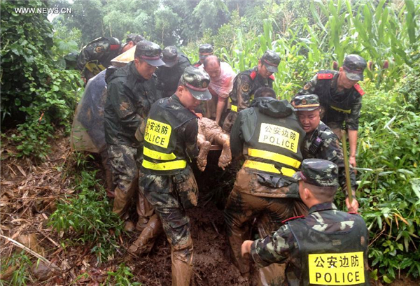 10 dead, 10 missing after Yunnan mudslide