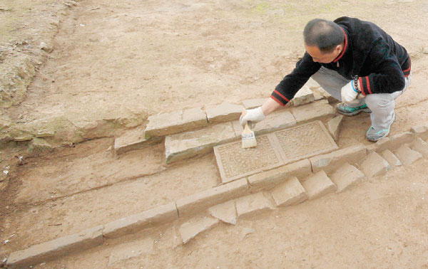 Tang Dynasty offices discovered in Daming Palace excavation