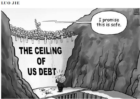 The ceiling of US debtn