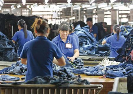 China Guangdong Zhonghan textile and garment factory is a professional denim and jeans manufacturer who produces and exports jeans, OEM ODM jeans and .