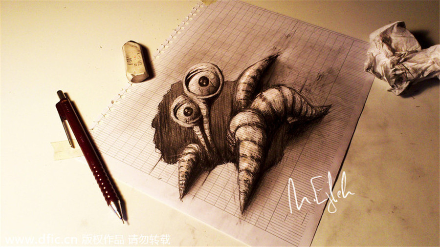 New views amazing 3d pencil drawings 3 slides for Amazing drawing websites