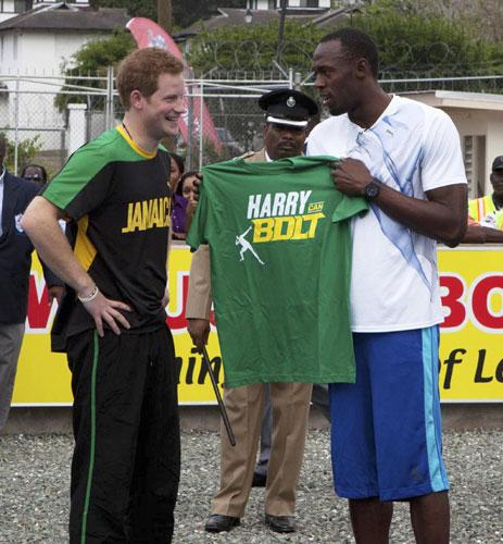 Prince Harry Runs With Usain Bolt In Jamaica[3]