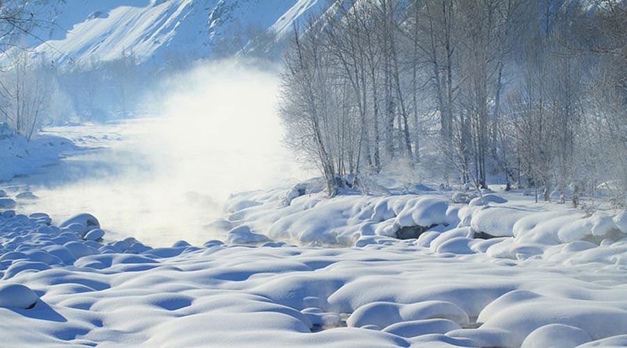 Winter Scenery Of Kelan River Nw China S Xinjiang 1