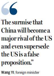 Wang: China won't be a rival to US