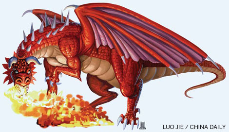 how to say fire dragon in chinese