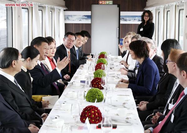Xi: Sino-Swiss ties example to the world