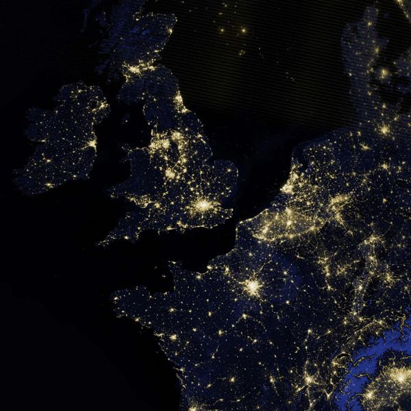 NASA releases earth images at night