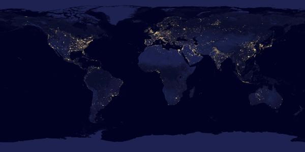 NASA lanza imágenes de la Tierra en la noche