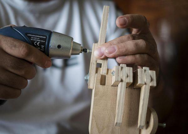 Wooden Model Cranes Crane Operator Creates Wooden