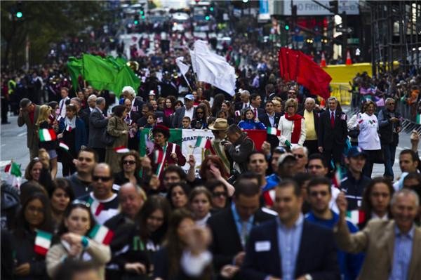 New Yorkers celebrates Columbus Day