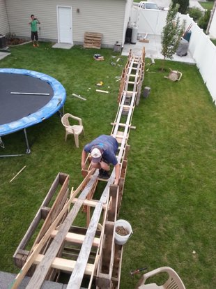 Teen Boys Build 50 Foot Long Backyard Roller Coaster