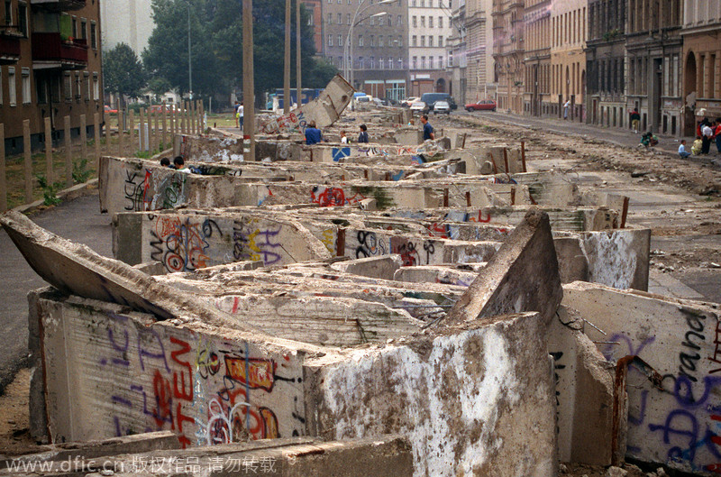 The Berlin Wall is down