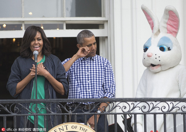 Beyonce, Easter Bunny highlight Obama's final egg roll[1 ...