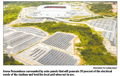 Yingli and Brazil's Neoenergia partner up to provide clean electricity to Cup stadium