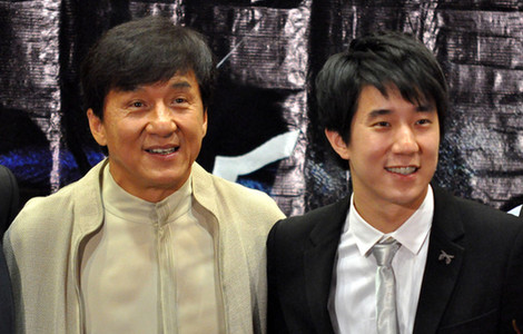jackie chan and his family - photo #33