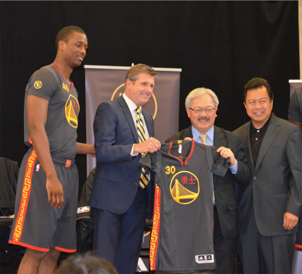 nba teams unveil chinese new year uniforms - Warriors Chinese New Year Jersey