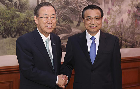 China reiterates its support for the UN