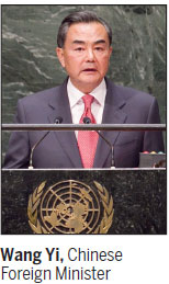 Chinese FM reaffirms his support for UN