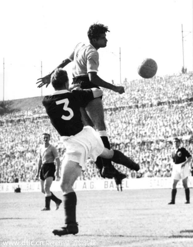 Image result for Uruguay 7-0 Scotland - 1954